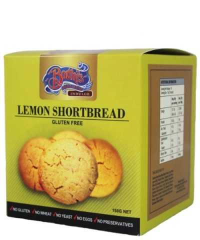 Gluten Free - Lemon Shortbread Cookie 150g