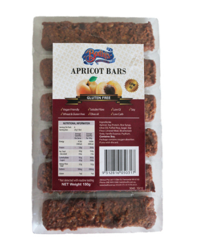 Apricot Low Carb Gluten Free Bars 150g