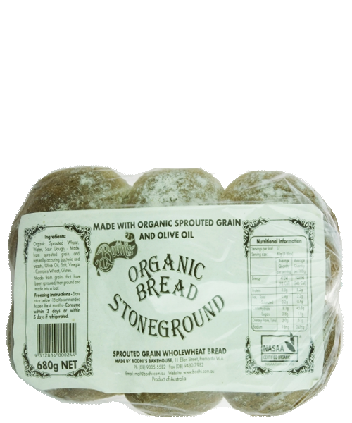 Organic Stoneground Rolls 6pk