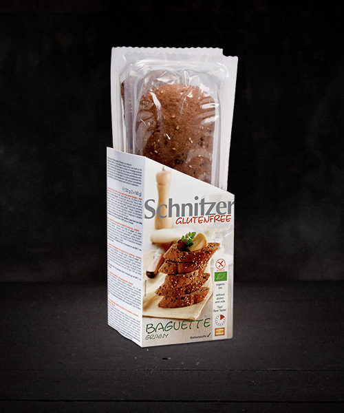 Schnitzer Gluten Free Organic Grainy Baguette 2pk