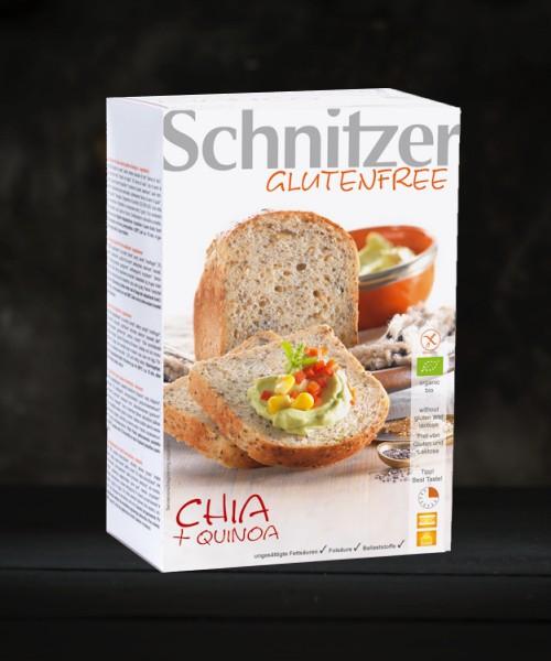 Schnitzer Gluten Free Organic Chia & Quinoa Bread 500g